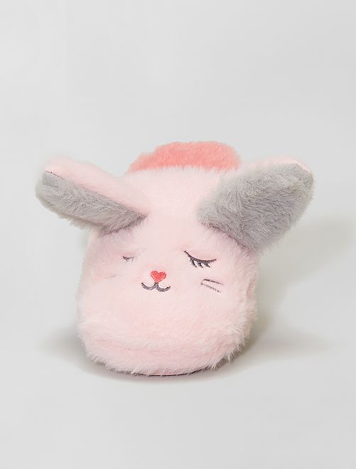 Chaussons mules 'lapin'                             rose
