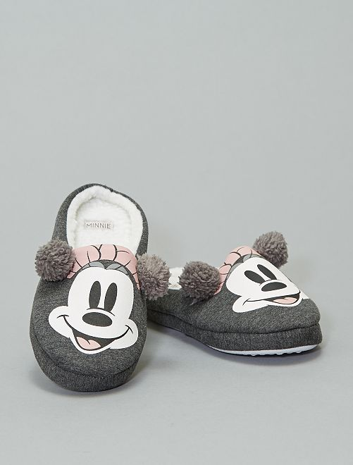 Chaussons mules 'Minnie'                             gris