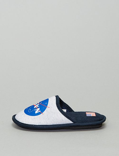 Chaussons mules 'NASA'                                         gris