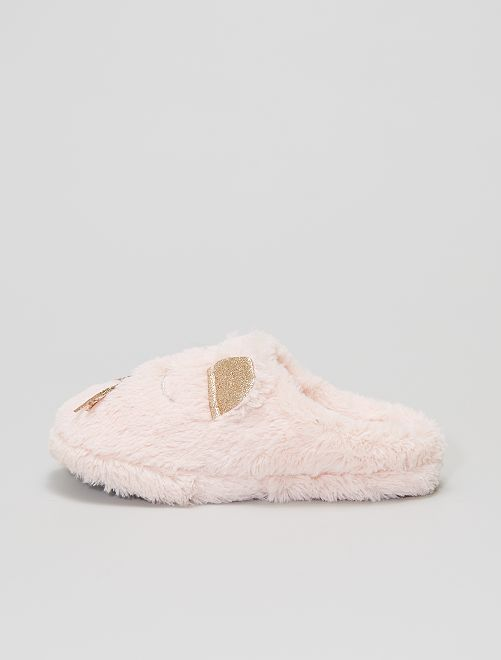 Chaussons mules souris                                         rose