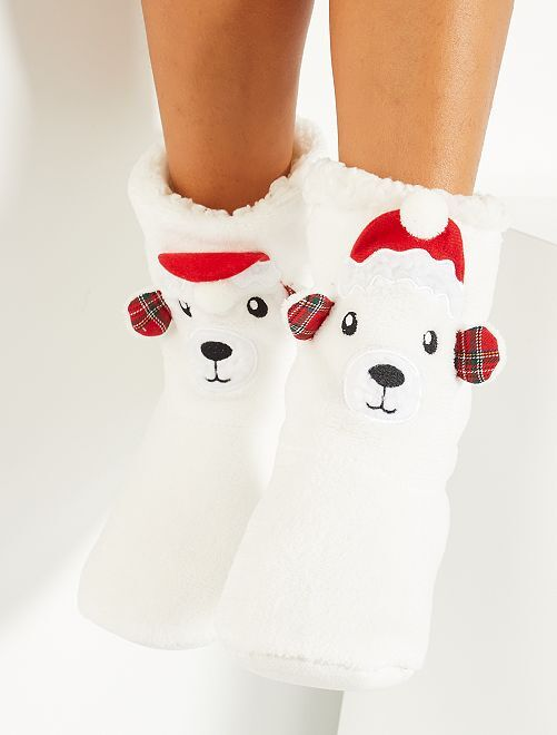 Chaussons Noël                                                     ours