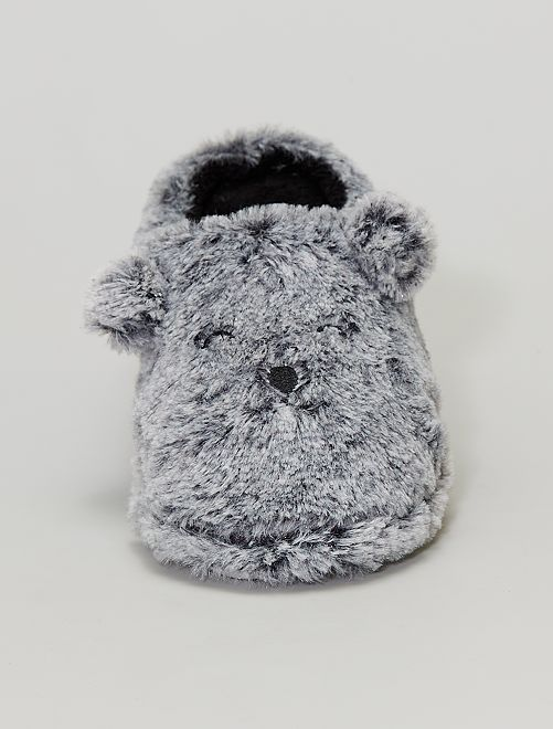 Chaussons 'ours'                             gris
