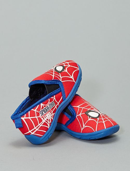Chaussons phosphorescents 'Spider-Man'                             rouge