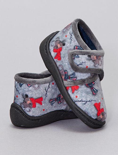 Chaussons 'souris'                             gris