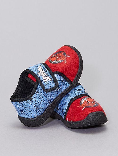 Chaussons 'Spider-Man'                             bleu/rouge