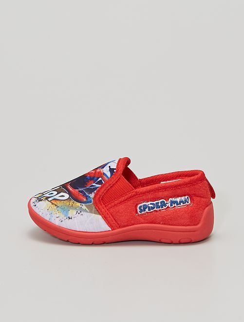Chaussons 'Spiderman'                                         rouge