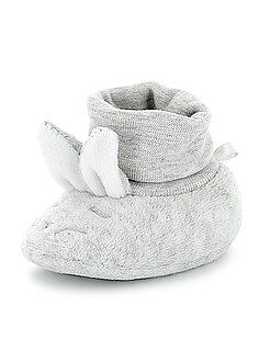 Fille 0-24 mois Chaussons têtes de lapins