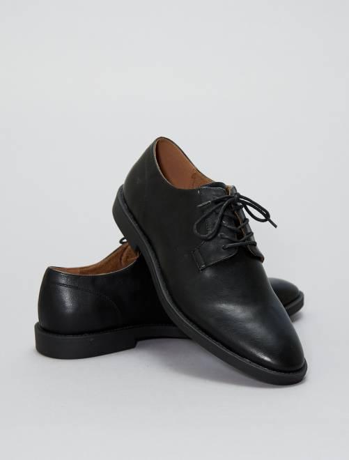 Chaussure de ville en simili                                         noir Chaussures