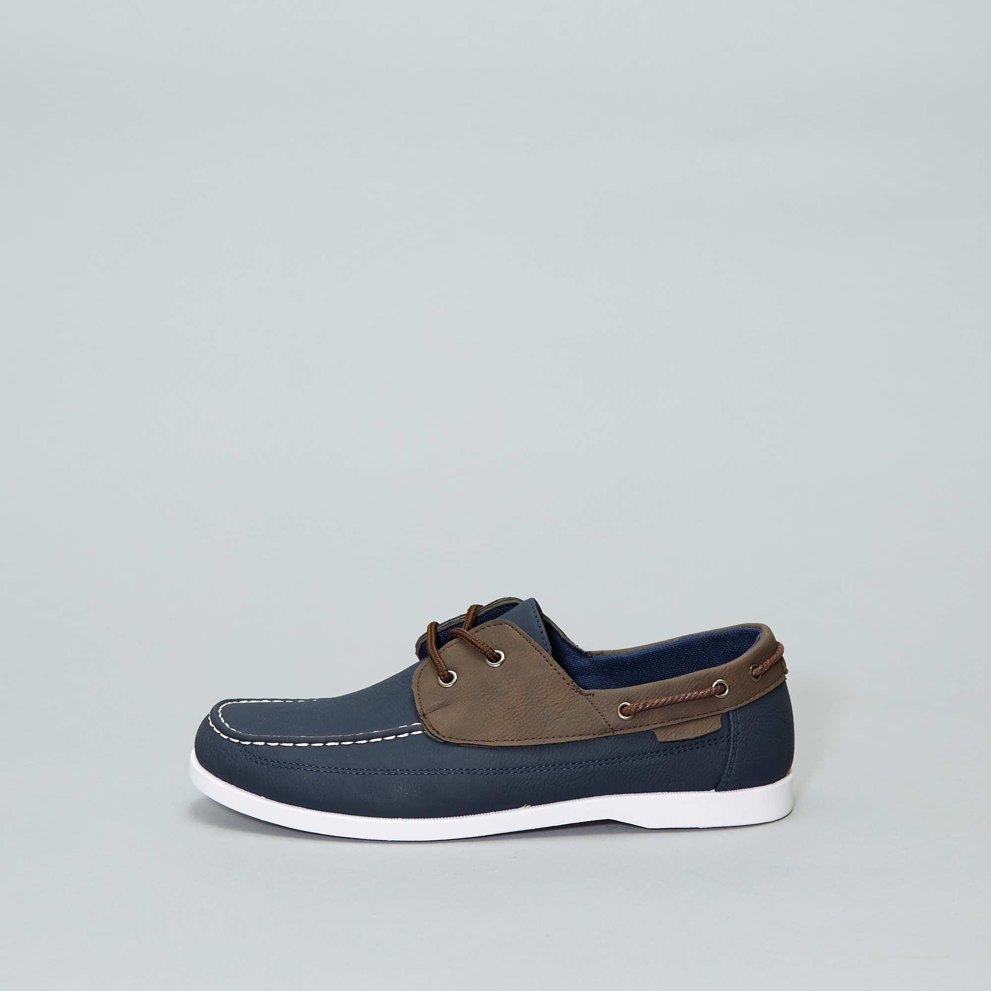 4b01d149db8 Chaussures bateau bicolore Chaussures - bleu navy - Kiabi - 20