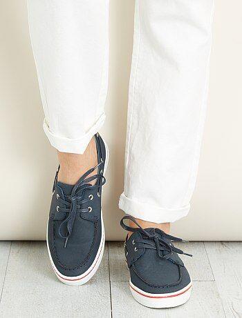 Chaussures bateau en simili - Kiabi