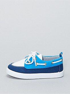 Chaussures bateau en toile - Kiabi