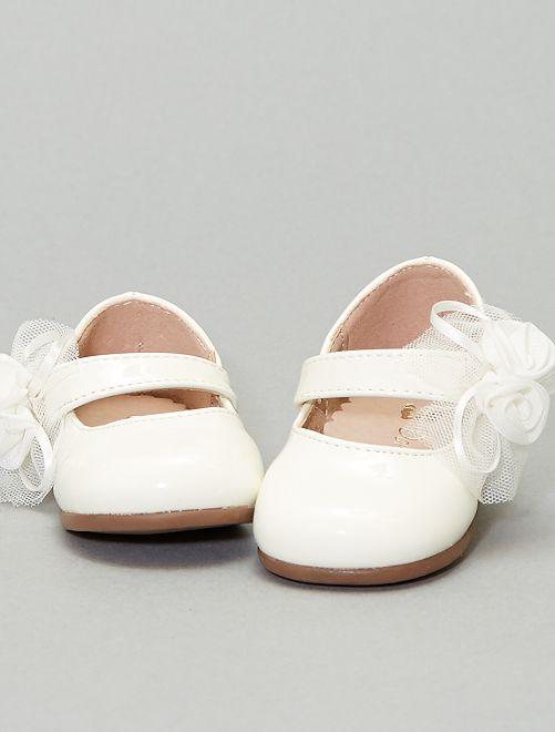 Chaussures de cérémonie type ballerines                             blanc