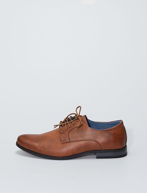 Chaussures de ville en simili                             marron