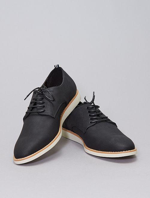 Chaussures de ville en simili texturé                             noir