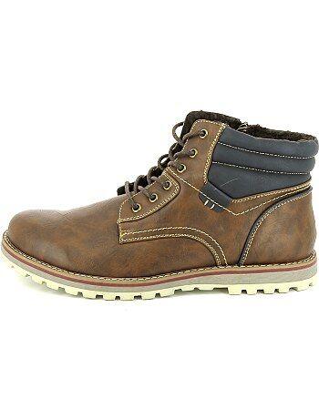 chaussures de ville forme boots grande taille homme marron kiabi 35 00. Black Bedroom Furniture Sets. Home Design Ideas