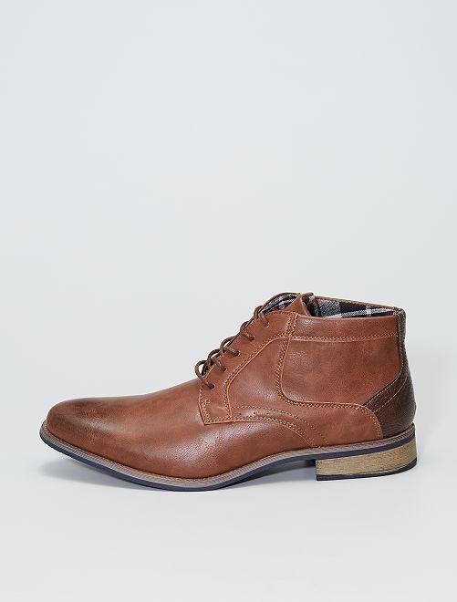 Chaussures de ville montantes                             brun