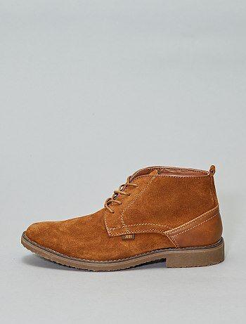 91aff69b294 Chaussures de ville montantes en cuir  XTI  - Kiabi