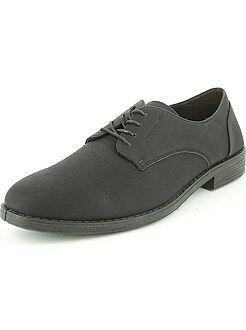 Chaussures ville - Chaussures de ville noires en simili