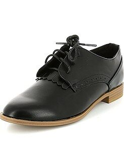 Chaussures derbies en simili