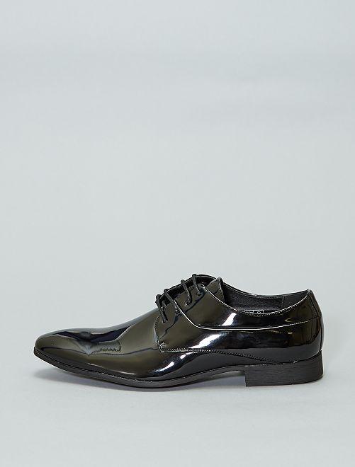 Chaussures derbies vernies                             noir