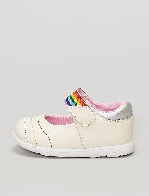Chaussures en cuir                             argent