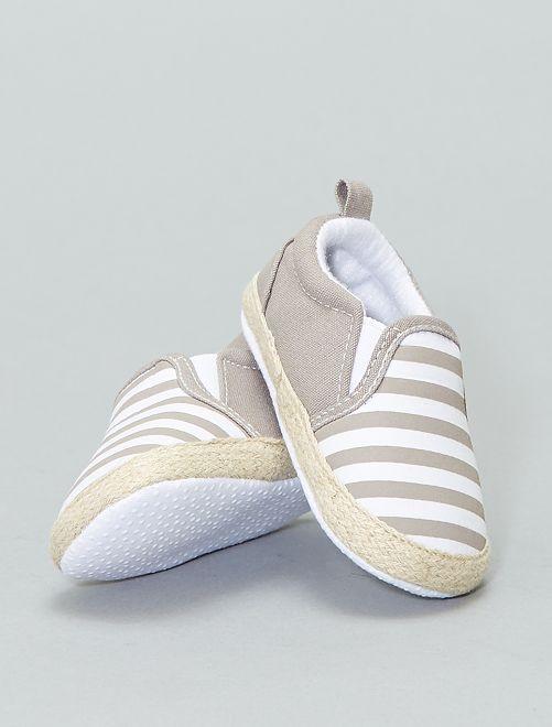Chaussures esprit espadrille en coton                                         taupe Chaussures