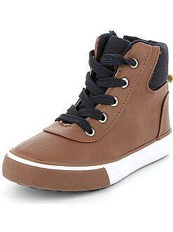 Chaussures montantes en simili
