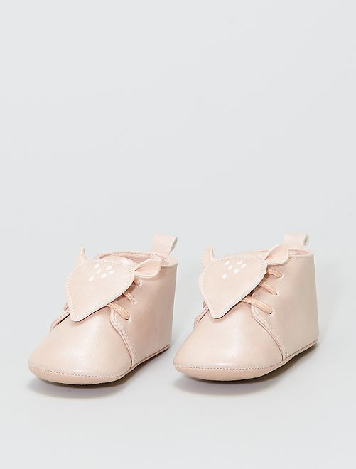 Chaussures montantes 'faon'                             rose