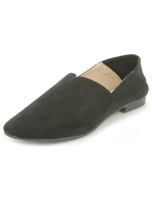 Chaussures type babouche noir Femme