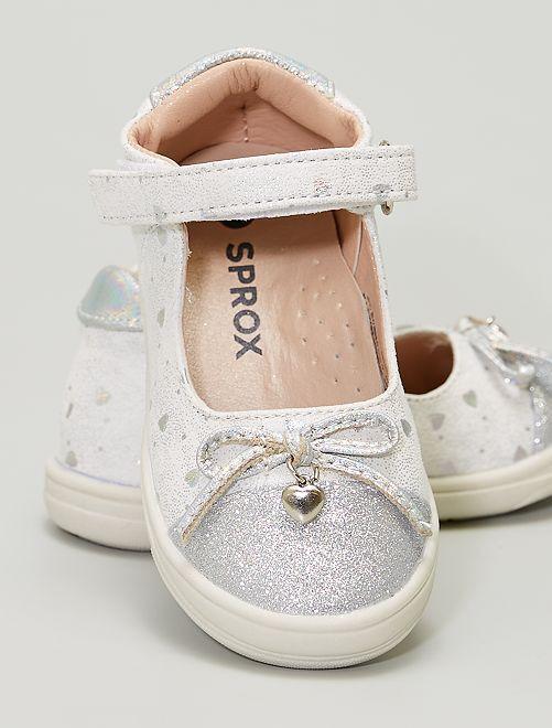 Chaussures type ballerines                             argent