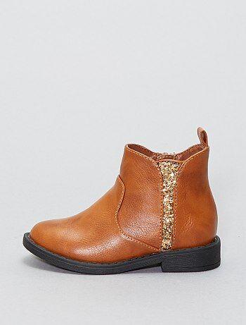 Chelsea boots à paillettes - Kiabi