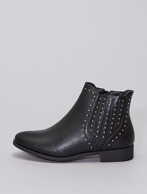 Chelsea boots cloutées                                         noir