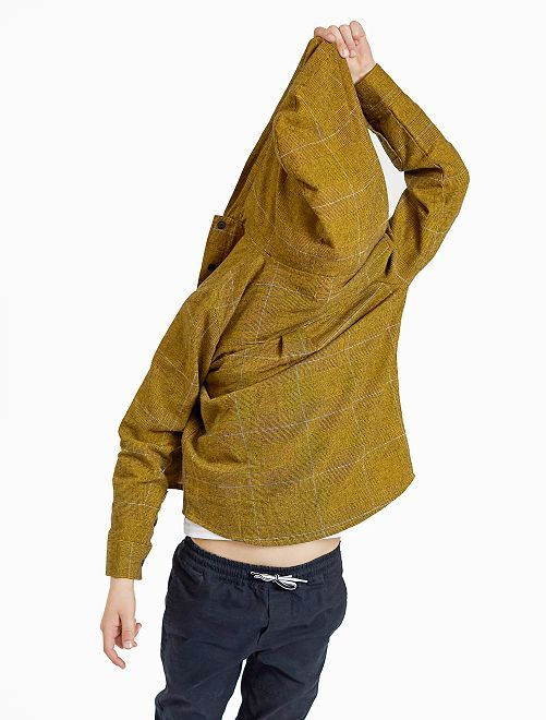 Chemise à capuche                             jaune