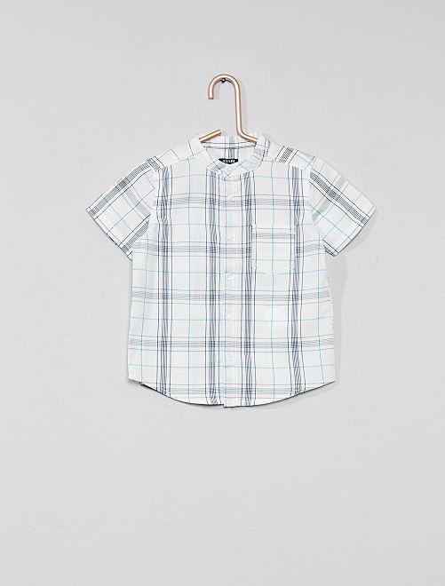 Chemise à carreaux                                         blanc Bébé garçon