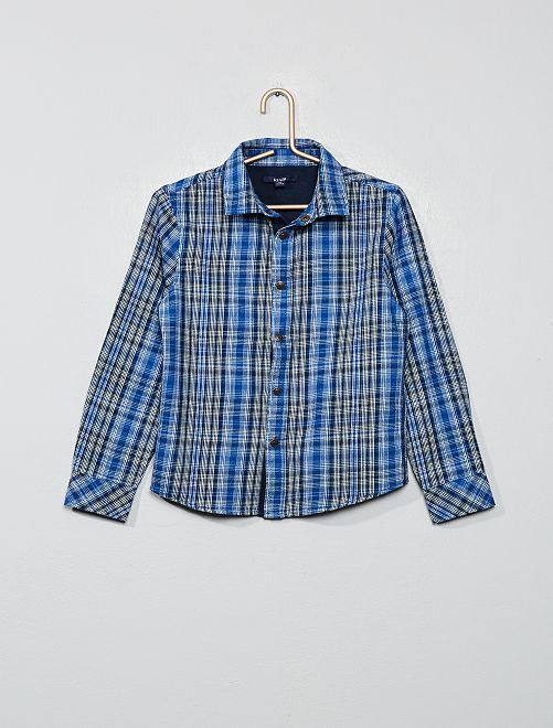 Chemise à carreaux                                                                 bleu Garçon