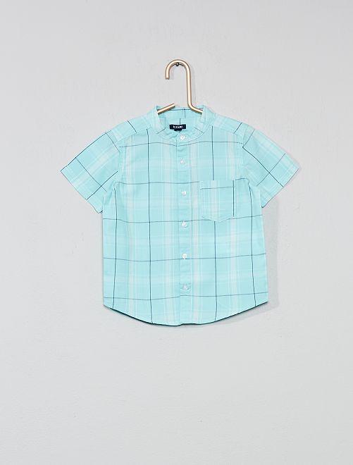 Chemise à carreaux                                                     bleu turquoise Bébé garçon