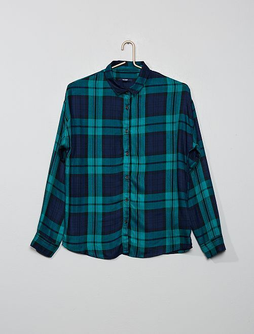 Chemise à carreaux                                                                 bleu/vert