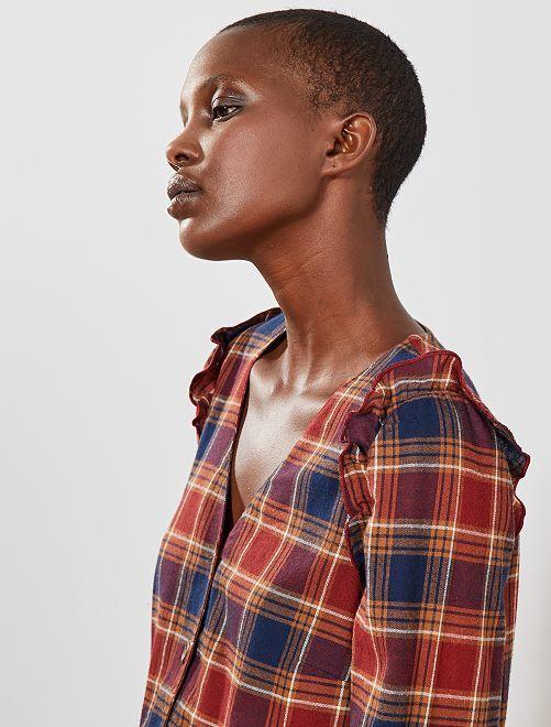 Chemise à carreaux                             carreaux