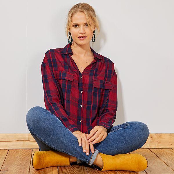Prix de gros 2019 comment acheter les dernières nouveautés Chemise à carreaux