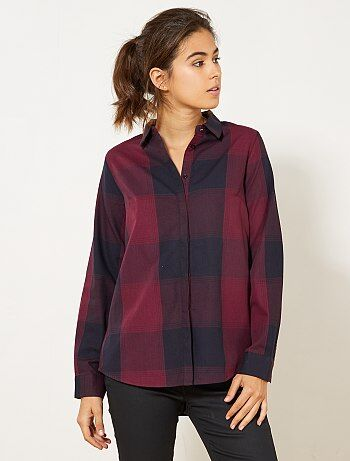 Chemise à carreaux colorée
