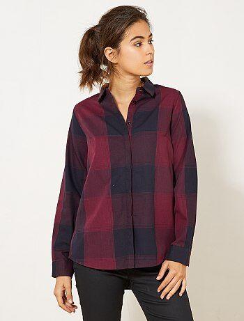 Femme du 34 au 48 - Chemise à carreaux colorée - Kiabi