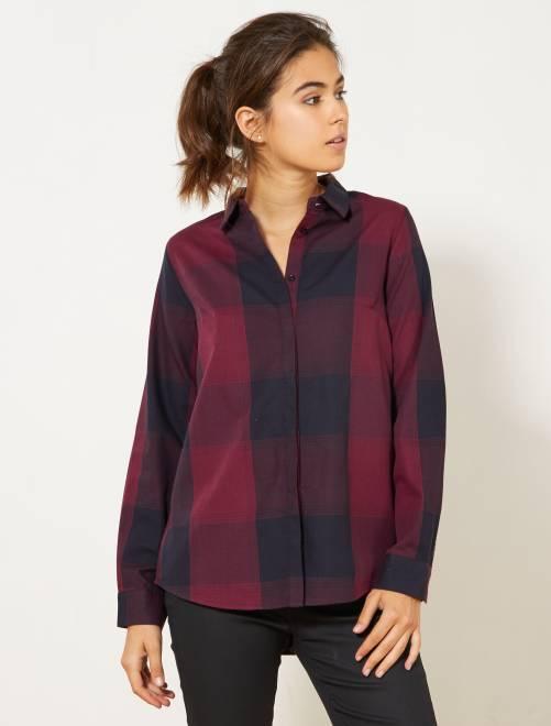 Chemise à carreaux colorée                                                                 rouge carreaux