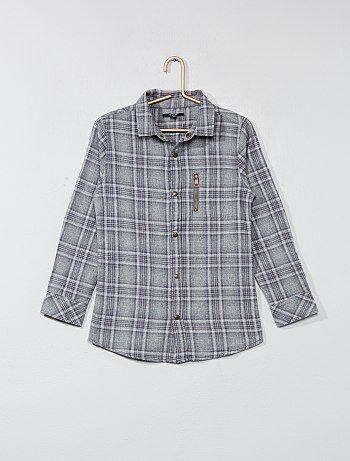 Chemise à carreaux en flanelle - Kiabi