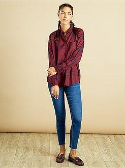 Chemise, chemisier - Chemise à carreaux en viscose