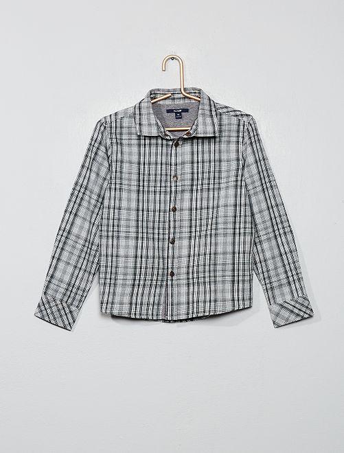 Chemise à carreaux                                                                 gris Garçon