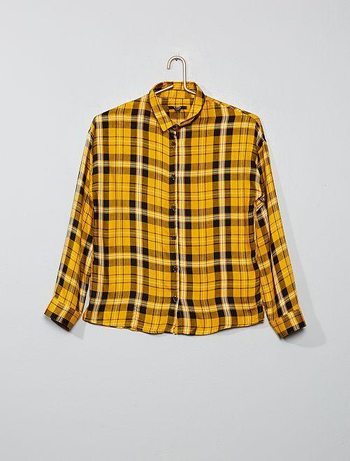 Chemise à carreaux                                                                 jaune