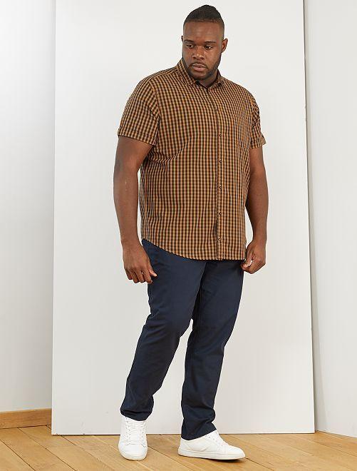 Chemise à carreaux                                                                                                     marron/noir