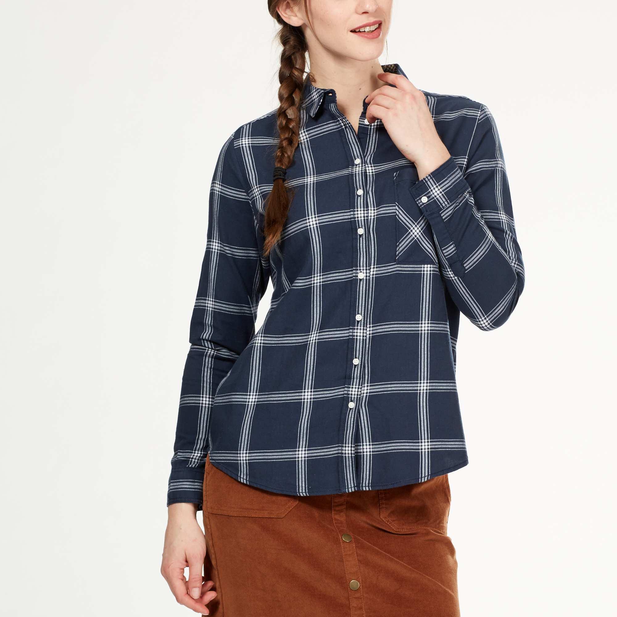 Couleur : carreaux bleu/blanc, , ,, - Taille : S, , ,,L'éternelle chemise à carreaux, pour un look toujours au top ! - Chemise à carreaux