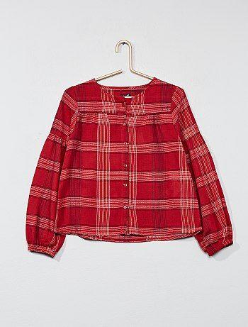 Chemise à carreaux - Kiabi