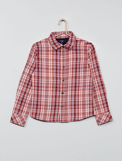Chemise à carreaux                                                                 rouge/blanc